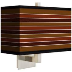 Tones of Sienna Rectangular Giclee Shade Wall Sconce