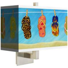 Summer Flip Flops Rectangular Giclee Shade Wall Sconce