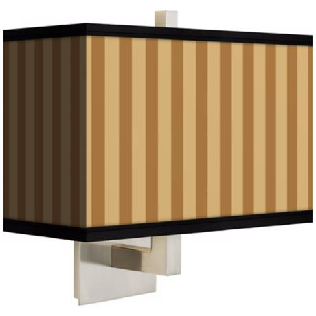 Butterscotch Vertical Rectangular Giclee Shade Wall Sconce