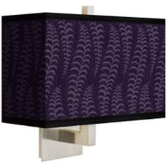 Stacy Garcia Fancy Fern Rich Plum Rectangular Shade Wall Sconce