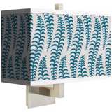 Stacy Garcia Fancy Fern Peacock Rectangular Shade Wall Sconce