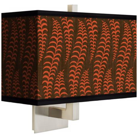 Stacy Garcia Fancy Fern Coral Rectangular Shade Wall Sconce