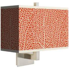 Stacy Garcia Seafan Coral Rectangular Giclee Shade Wall Sconce
