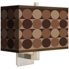 Sienna Grey Circles Rectangular Giclee Shade Wall Sconce