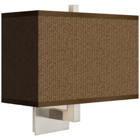 Khaki Rectangular Giclee Shade Wall Sconce
