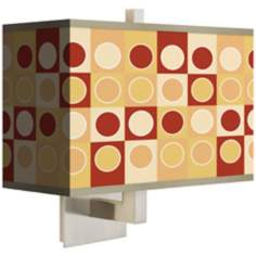 Retro Dotted Squares Rectangular Shade Wall Sconce