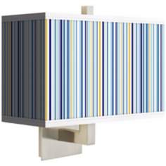 Stacy Garcia Cabana Stripe Rectangular Giclee Shade Wall Sconce