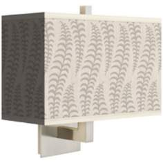 Stacy Garcia Fancy Fern Ice Rectangular Shade Wall Sconce