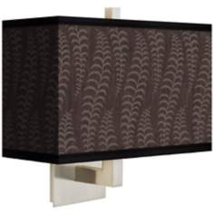 Stacy Garcia Fancy Fern Taupe Rectangular Shade Wall Sconce