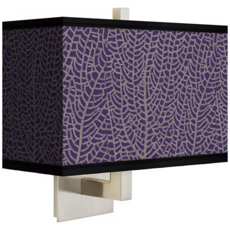 Stacy Garcia Seafan Rich Plum Rectangular Shade Wall Sconce