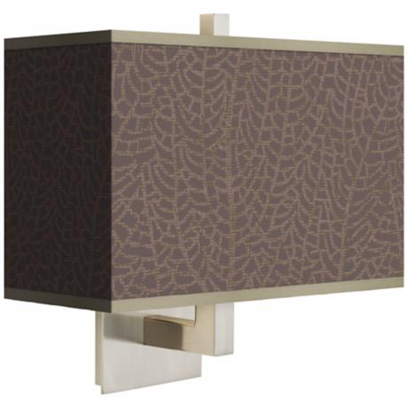 Stacy Garcia Seafan Taupe Rectangular Shade Wall Sconce