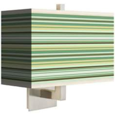 Lexington Stripe Rectangular Giclee Shade Wall Sconce
