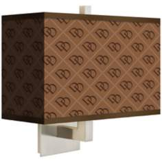 West Bend Rectangular Giclee Shade Wall Sconce