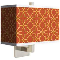 Stacy Garcia Santorini Lattice Suns Rectangular Shade Wall Sconce