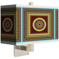 Stacy Garcia Tiber Medallion Garnet Rectangular Shade Wall Sconce