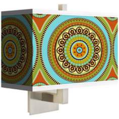 Stacy Garcia Armo Mosaic Daybreak Rectangular Shade Wall Sconce