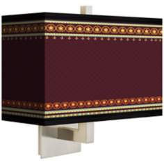 Stacy Garcia Ebro Garnet Rectangular Giclee Shade Wall Sconce