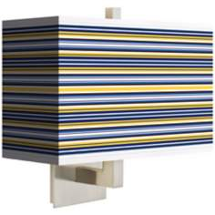 Charleston Stripes Rectangular Giclee Shade Wall Sconce