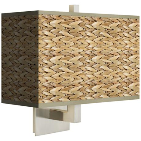 Seagrass Rectangular Giclee Shade Wall Sconce