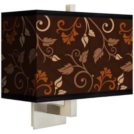 Foliage Rectangular Giclee Shade Wall Sconce