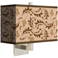 Fall Breeze Rectangular Giclee Shade Wall Sconce