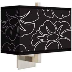 Summer Silhouette Rectangular Giclee Shade Wall Sconce