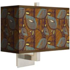 Stacy Garcia Theatric Vine Peacock Rectangular Shade Wall Sconce