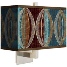 Stacy Garcia Pearl Leaf Peacock Rectangular Shade Wall Sconce