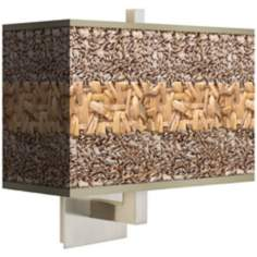Woven Fundamentals Rectangular Giclee Shade Wall Sconce