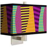 Mambo Rectangular Giclee Shade Wall Sconce