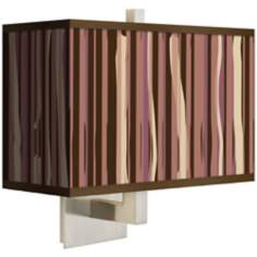 Kalahari Lines Rectangular Giclee Shade Wall Sconce