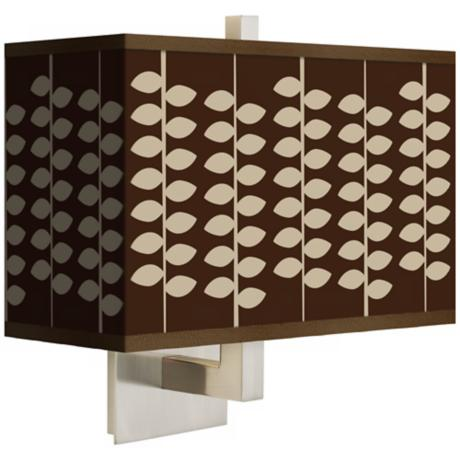 Hi Fi Rectangular Giclee Shade Wall Sconce