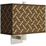 Tan Wailia Rectangular Giclee Shade Wall Sconce