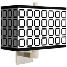 Open Grid Rectangular Giclee Shade Wall Sconce