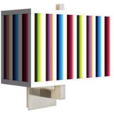 Technocolors Rectangular Giclee Shade Wall Sconce