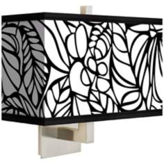 "Jungle Moon Giclee 14"" Wide Rectangular Shade Wall Sconce"