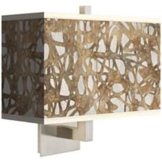 Organic Nest Rectangular Giclee Shade Wall Sconce