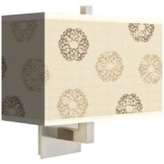 "Sand Medallion Giclee Shade14"" Wide Rectangular Wall Sconce"