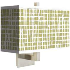 Ecru Screen Linen Rectangular Wall Sconce