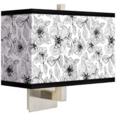 Stacy Garcia Linear Floral Rectangular Giclee Shade Wall Sconce