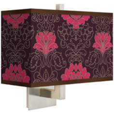 Stacy Garcia Florentia Wild Berry Giclee Rectangular Wall Sconce