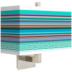 Key West Party Time Rectangular Giclee Shade Wall Sconce