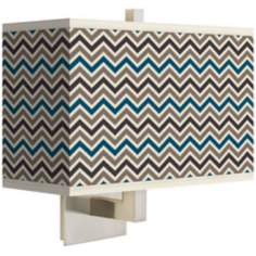 Zig Zag Rectangular Giclee Shade Wall Sconce