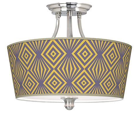 Deco Revival Tapered Drum Giclee Ceiling Light