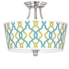 Hyper Links Tapered Drum Giclee Ceiling Light