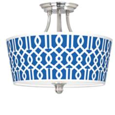 Chain Reaction Tapered Drum Giclee Ceiling Light