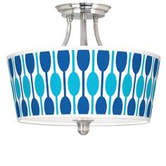 Jet Set Tapered Drum Giclee Ceiling Light