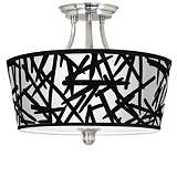 Sketchy Tapered Drum Giclee Ceiling Light