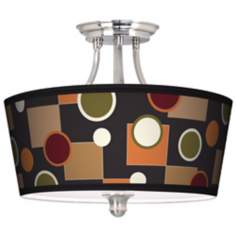 Retro Medley Tapered Drum Giclee Ceiling Light