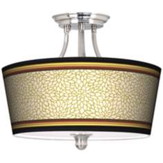 Stacy Garcia Spice Dahlia Tapered Drum Giclee Ceiling Light